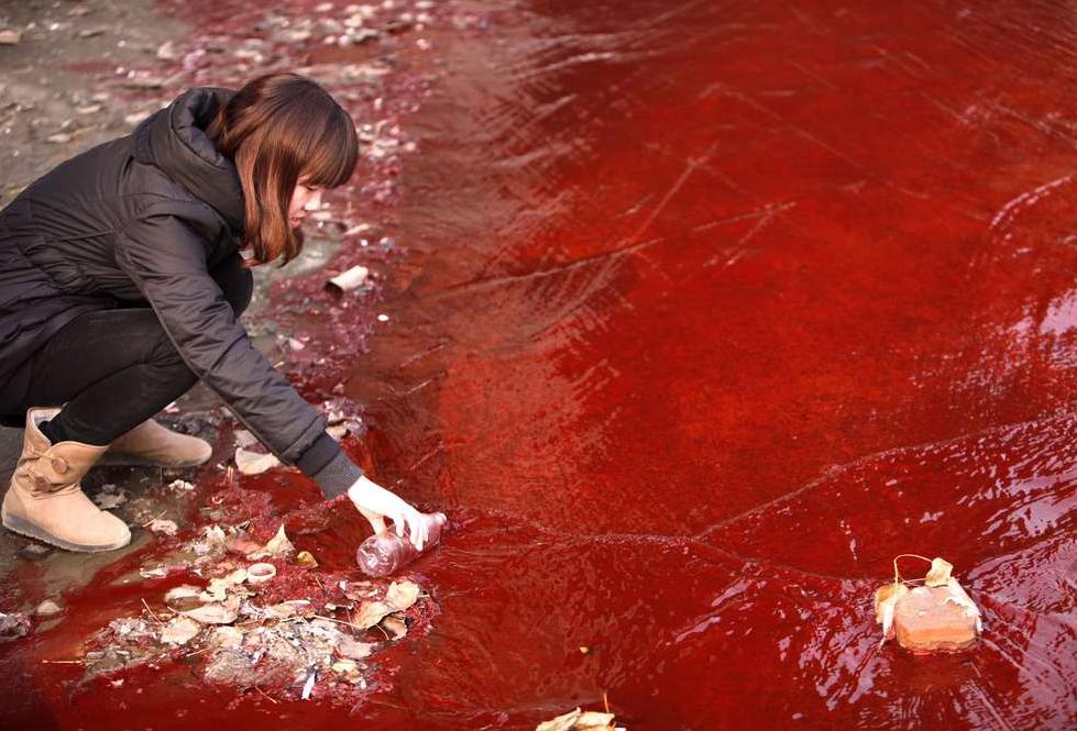 Rode rivier bij Luoyang - Deng Fei